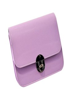 HKS Lovely Girl Leather Mini Small Adjustable Shoulder Bag Handbag Messenger Purple - intl