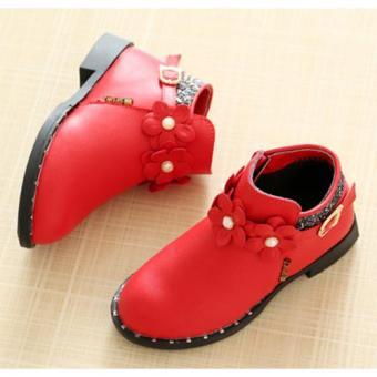 Giày Bốt Bé Gái Z-18 (Đỏ)