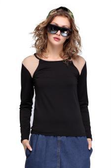 Sunweb Long Sleeve Women T-Shirt Blouses (Black) - Intl