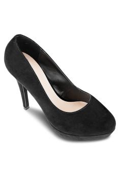Giày Cao Gót Bít Đúp Tròn 12cm (Nỉ)