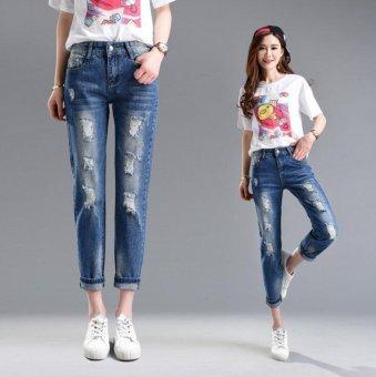Korean Style Skinny High Waist Denim Jeans - intl