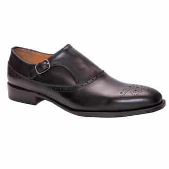 Giày Da Black Brogue Monk PCMFWLA009-BLK