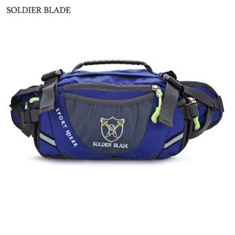 SOLDIER BLADE Multifunction Unisex Outdoor Travel Bottle Storage Waist Bag Shoulder Bags(Blue) - intl