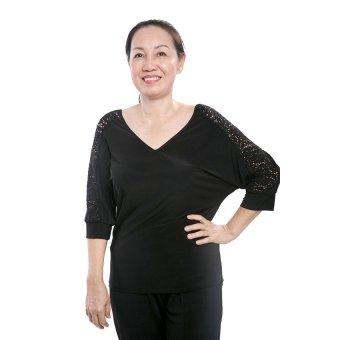 Áo kiểu nữ trung niên Ugether UPAR18 (Đen)
