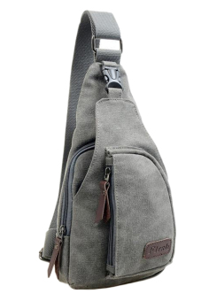 Fancyqube Multifunctional Casual Outdoor Men's Sports Canvas Bag Grey