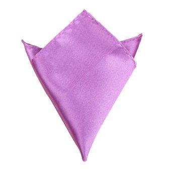 Fancyqube Multicolor Men Wedding Solid Pocket Square Handkerchief Hanky Accessory Purple - Intl