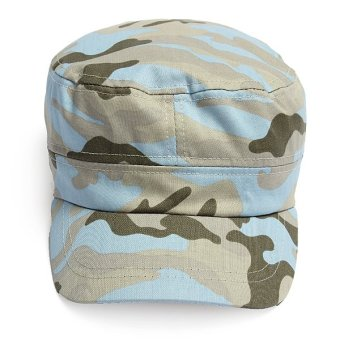 Kids Children Girl Boy Camouflage Military Army Cadet Hats Flat Bill Sun Peak Caps - Intl
