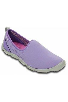 Giày lười Crocs Duet Busy Day Skimmer W Blue Violet/Light Grey 14698-5K3 (Xanh dương)