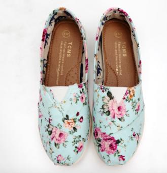 Giày Slip On Nữ S29 (Hoa)
