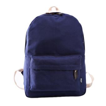 Women Canvas School Bag Girl Backpack Travel Rucksack Shoulder Bag Dark blue (Intl)