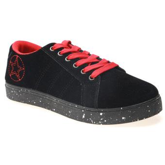 Giày Sneaker Nam Thể Thao Hnp Gn020 (Đen Phối Đỏ)