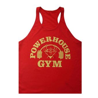Moonar Fashion Men's Cotton Sports Tank Top Gym H-back T-shirt Bodybuilding Muscle Vest M-xxL (Red) - intl