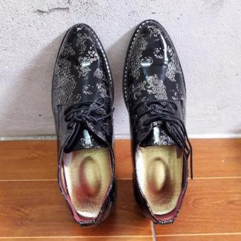Giày lười da nam ZAZA công sở vân trắng