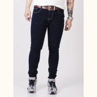 Quần jeans ống côn SAIGONBOY J43A (Xanh Đen)