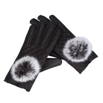 Womens Touch Screen Winter Outdoor Warm Gloves Brown