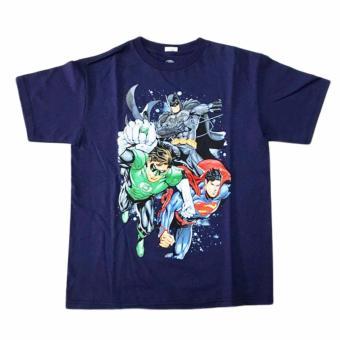 Áo thun tay ngắn thời trang DC Comics bé trai (Xanh Đen)