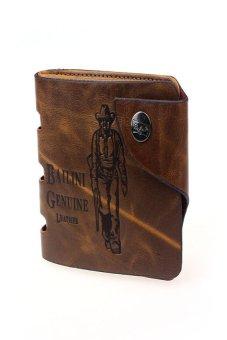 HKS Mens Retro Genuine Leather Bifold Wallet - intl