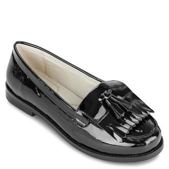 Giày mọi da bóng tua rua