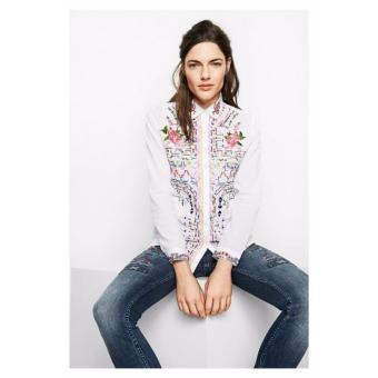 Mua Áo Sơ Mi Nữ Thêu Hoa Desigual Shirt Atenas 71C2WD01000XS giá tốt nhất