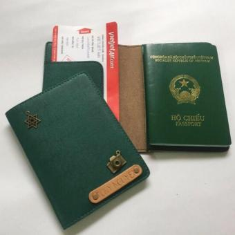 Bao Da Hộ Chiếu Passport Cover Abu90 PC07 (Xanh Lá Đậm)