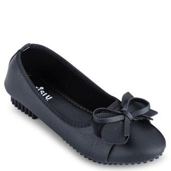 Giày búp bê đính nơ nữ Sarisiu SRS805 (Đen)