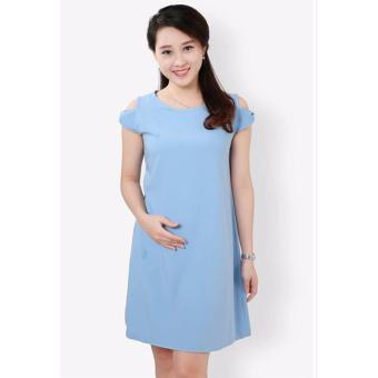 Đầm bầu thiết kế Lê Dương - tay nơ