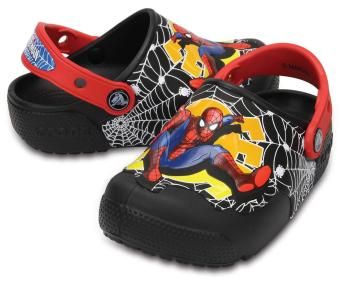 Xăng đan & Dép bé trai Crocs CrocsFunLab Lights Spiderman Blk 204136-001 (Đen)