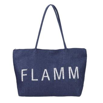 Women Casual Shoulder Bag Large Straw Beach HandBag NY - intl