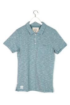 Native Youth Space Dye Polo Shirt (Light Blue)