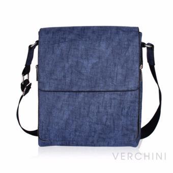 Túi xách nam Verchini màu xanh biển vân 004354