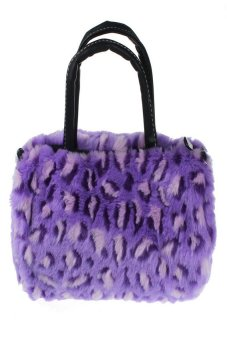 HKS Women Plush Handbag Autumn Winter Handbag Shoulder Bag Purse Tote Purple - Intl - intl