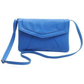 niceEshop PU Leather Women Envelope Satchel Cross Body Shoulder Bags Vintage Handbags(Blue) - intl