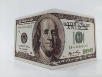 Bóp Da Nam Hình Tiền 100USD Cổ Điển