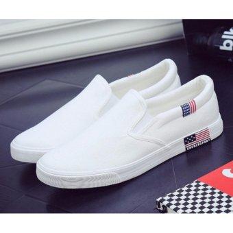 Giày lười nam chất đẹp ( trắng )