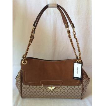 Nine West Mini 9S Sateen Shoulder Bag Tobacco Brown