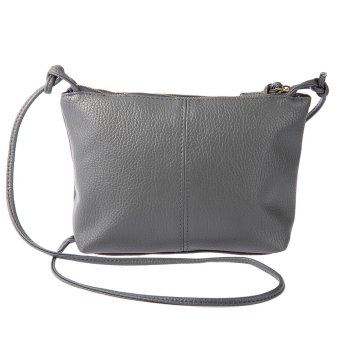 Vintage Solid Color Zipper Multi Functional Shoulder Cross Body Bag for Ladies - intl