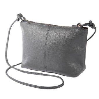 Mua Vintage Solid Color Zipper Multi Functional Shoulder Cross Body Bag for Ladies - intl giá tốt nhất