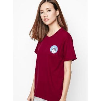 Áo thun logo Pet lovers chó Husky (Đỏ)