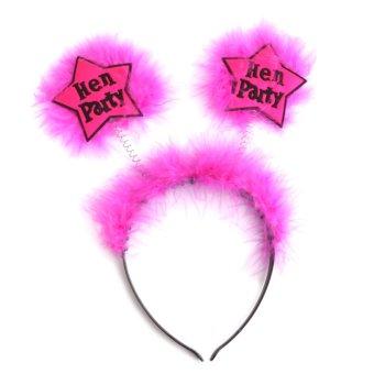 Plastic Fur Hen Party Headband Hen Night Head Boppers Decor Red and Black - Intl