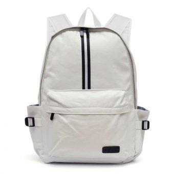 Rucksack Leather Men Satchel Shoulder Bag Backpack White - intl