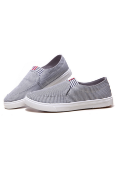 Giày Lười Phối Sọc ZOMA S1015 (Xám)