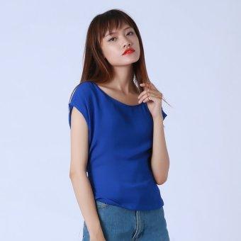 Áo Xanh NaVy Buộc Nơ Kim Fashion KFA0125 (Xanh)