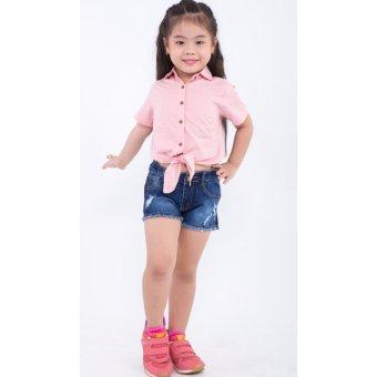 Quần shorts bé gái Ugether UKID166 (Xanh jeans đậm)