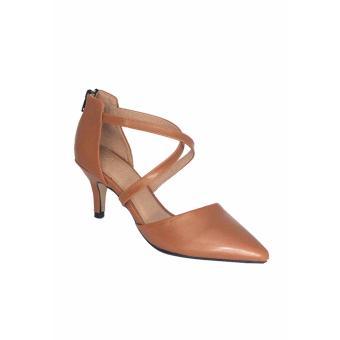 Sandal Cao Gót 5 Phân ANA Le (Nâu)