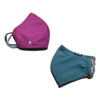 zigzag COM0113- Bộ 2 khẩu trang chống nắng UPF50+( xanh nhạt + hồng đậm)