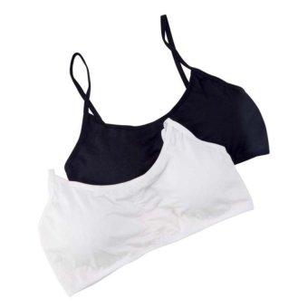 Bộ 2 áo bra quai chéo The Ladies GT 247 (Đen trắng)