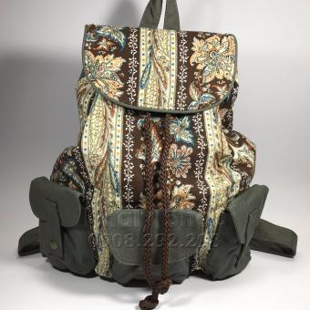 Balo NỮ vải KAKI hiệu ECOTE dành cho các bạn NỮ ,đi chơi đi học