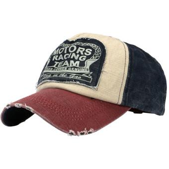 Fashion Retro Unisex Boys Girls Adjustable Motorcycle Baseball Cap Hip Hop Snapback Hat Burgundy - intl