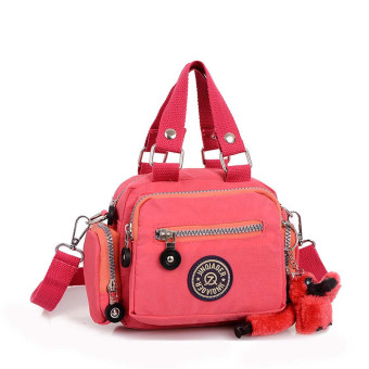 Waterproof Nylon Handbag Shoulder Diagonal Bag Messenger Watermelon Red (Intl)