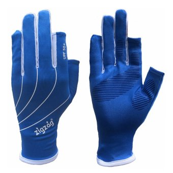 zigzag GLV00808- Găng tay Easy touch chống nắng UPF50+ (xanh trắng)